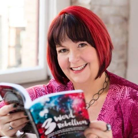Headshot of Michelle Mazur reading her book